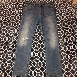 Medium Wash Distressed AE Jeans